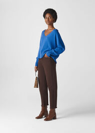 Sustainable Cashmere Jumper Blue