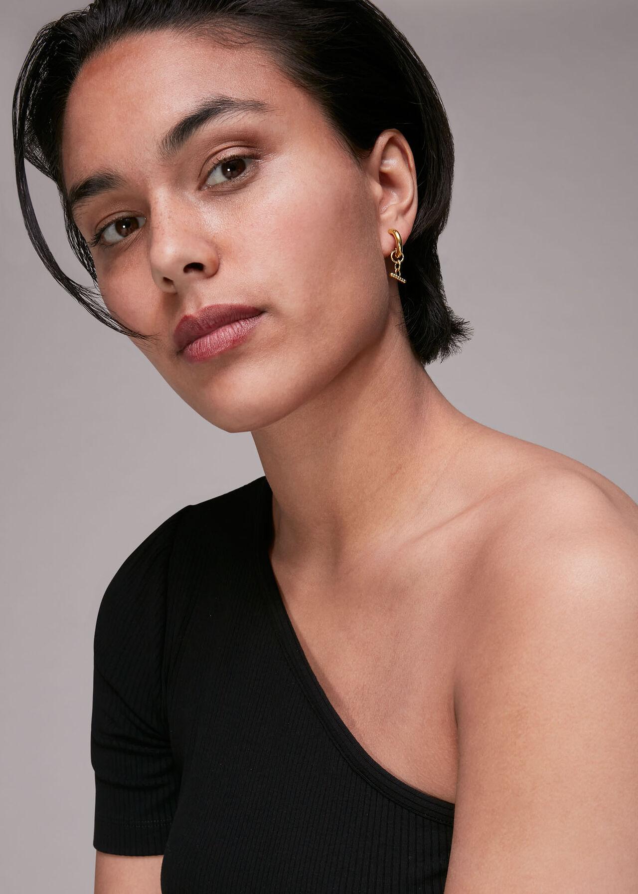 Seed Bead Bar Earring