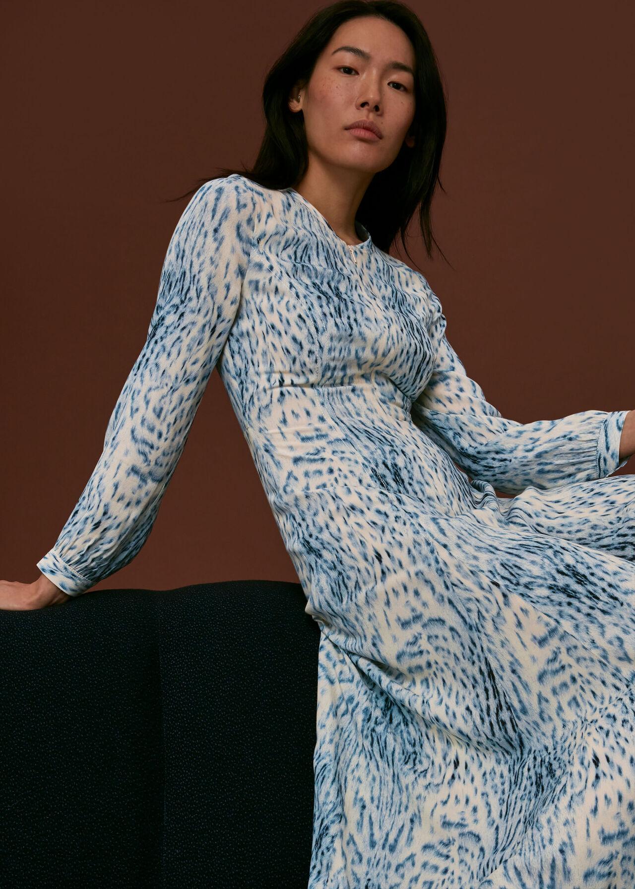 Brushed Animal Zip Front Dress