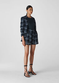 Check Belted Short Navy/Multi