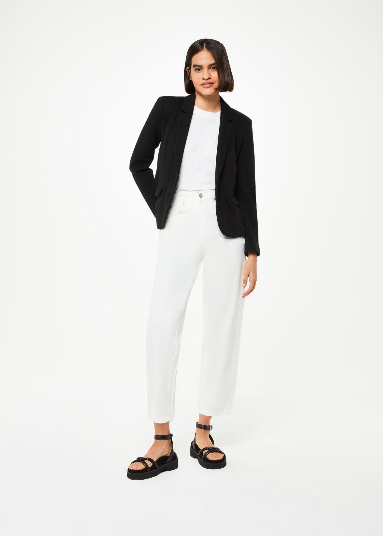 Slim Jersey Jacket Black