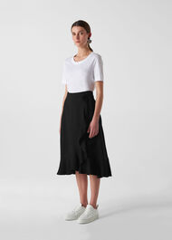 Mei Frill Wrap Skirt Black
