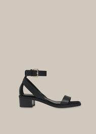Campbell Mid Block Sandal Black