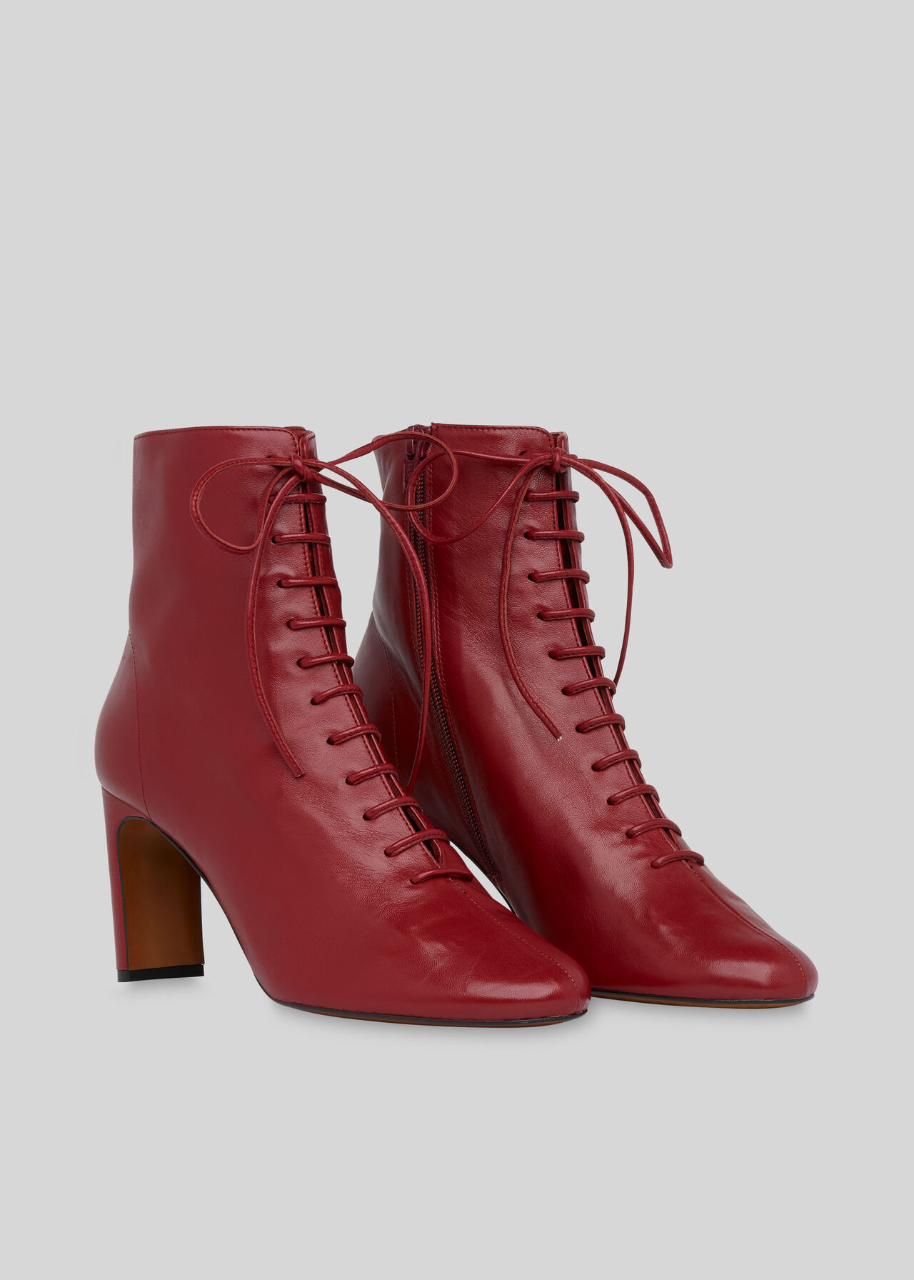 Dahlia Lace Up Boot Red