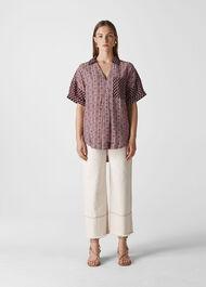 Woodblock Print Lea Shirt Multicolour