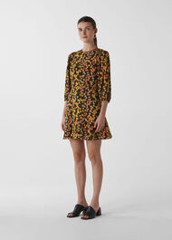Daisy Print Ester Dress Multicolour