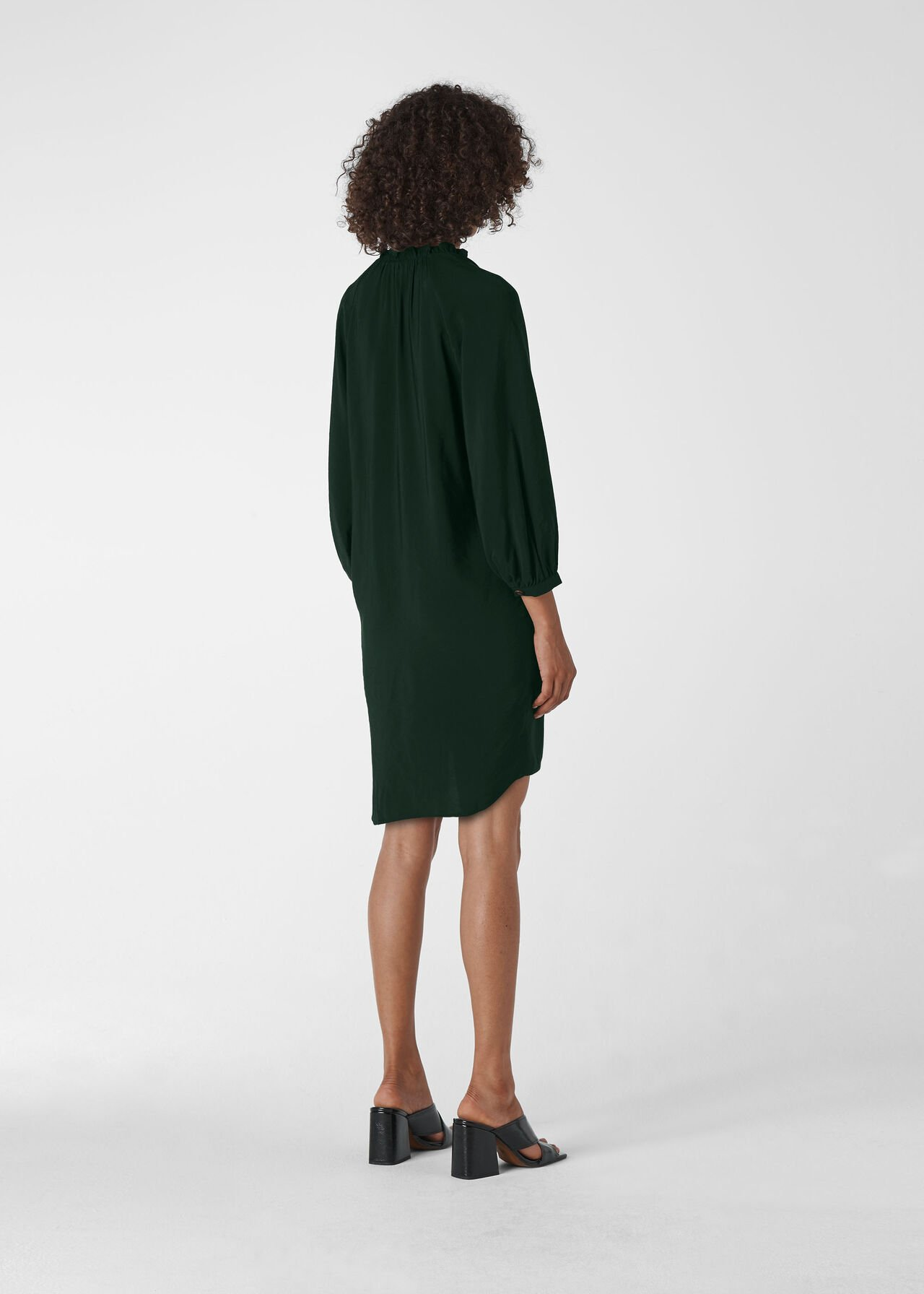 Enora Dress Dark Green