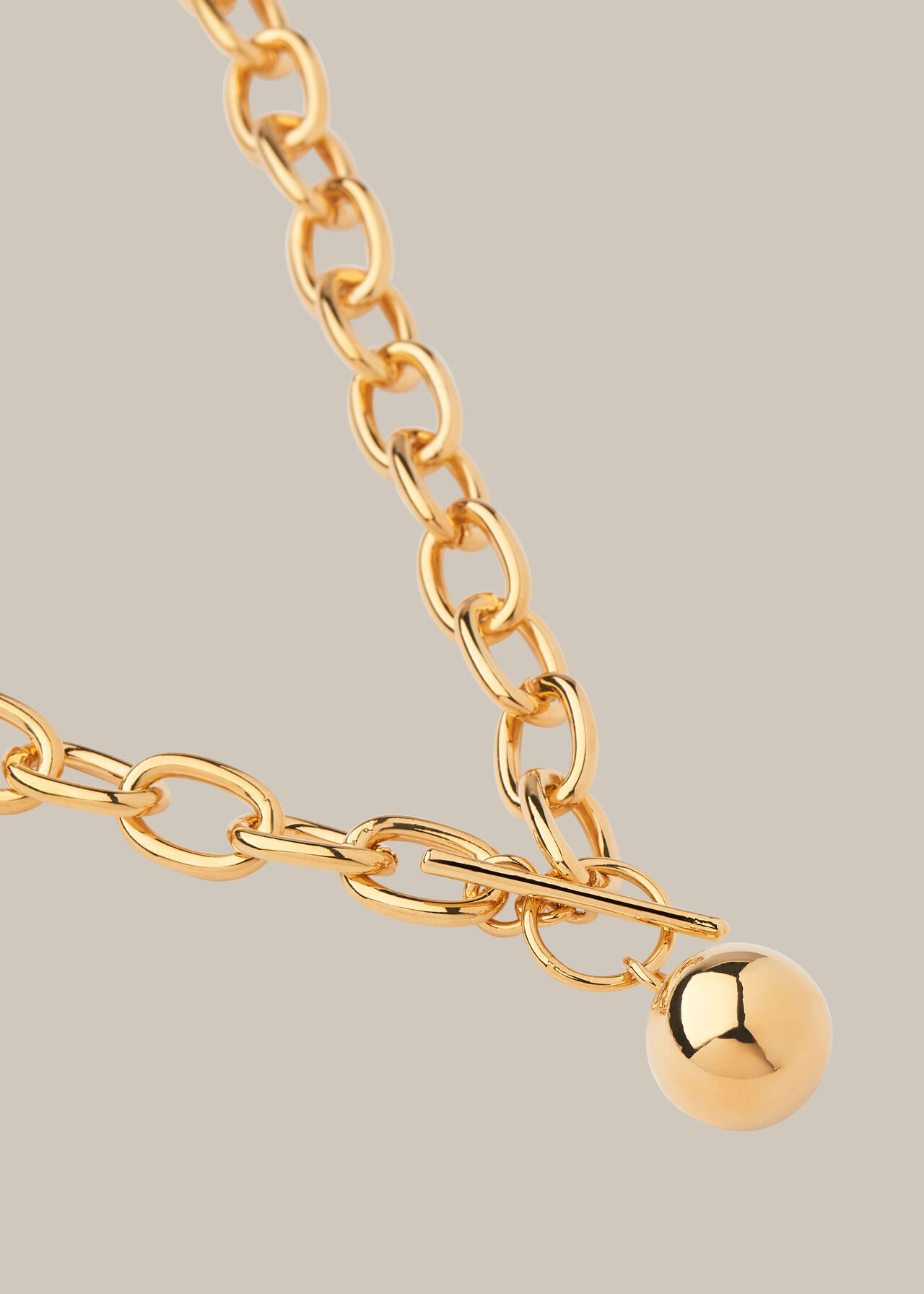 Chunky Bar and Sphere Necklace
