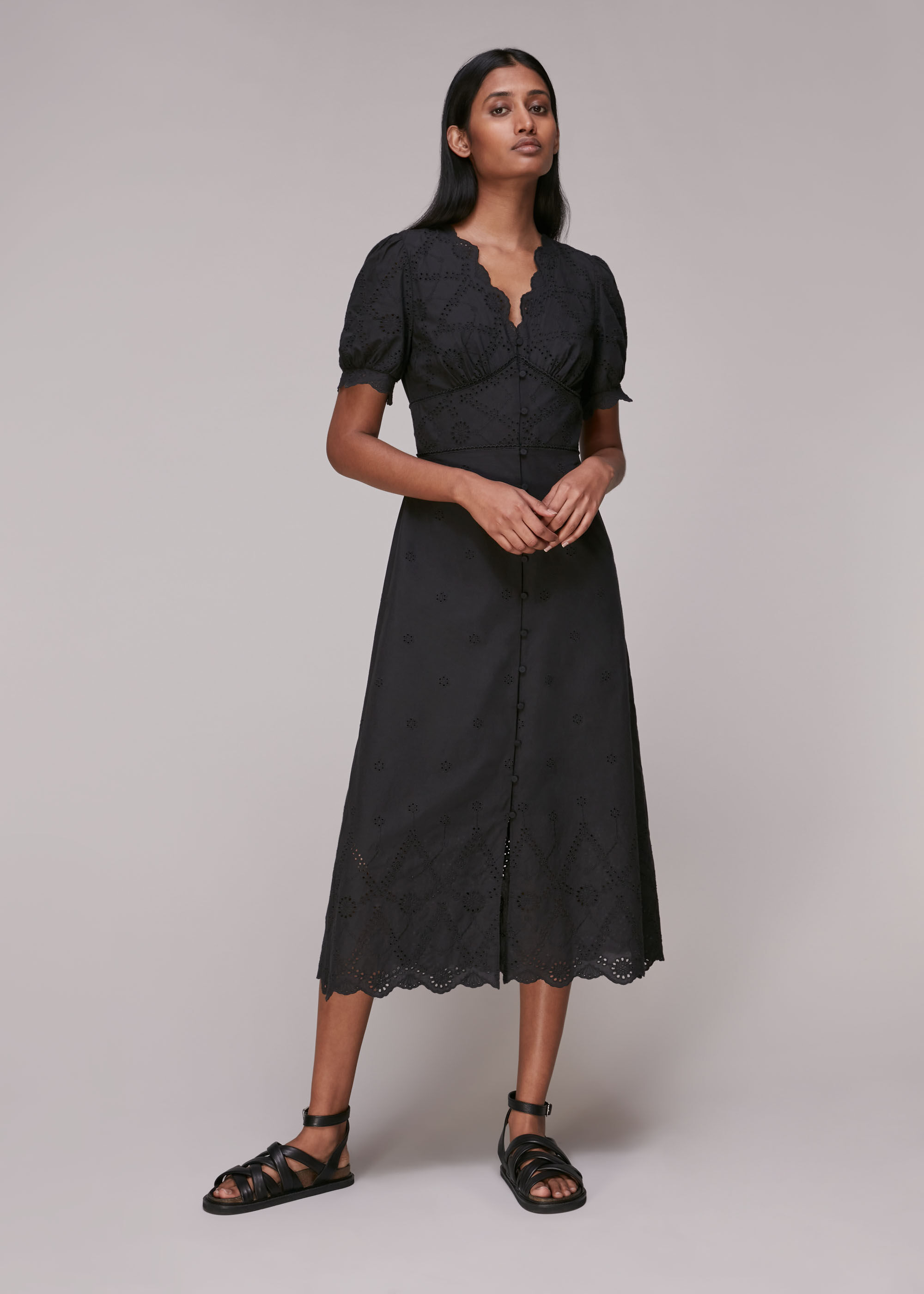 Whistles Women Carolyn Broderie Dress