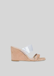 Thayer Perspex Wedge NUDE