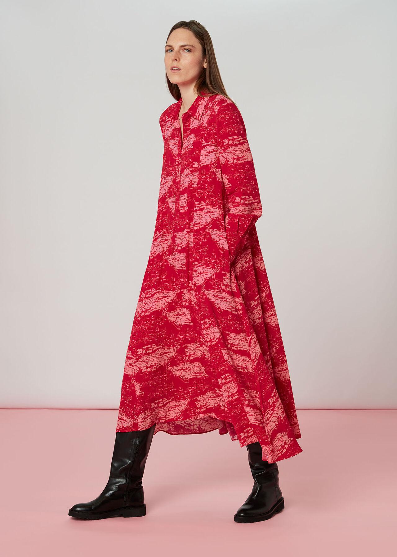 Field Print Dress