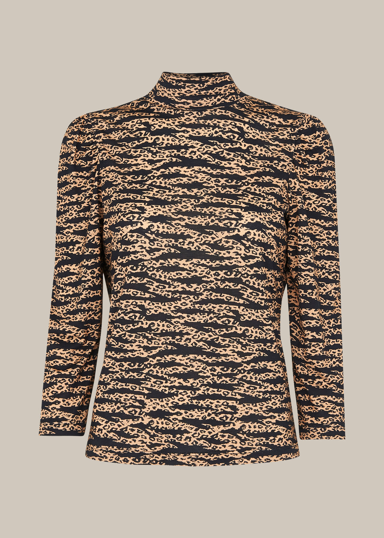 Tiger Leopard Print High Neck