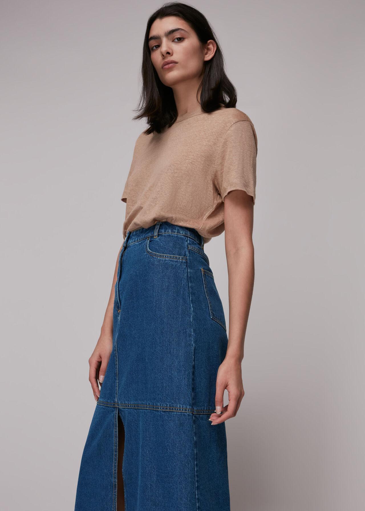 Harlow Denim Midi Skirt