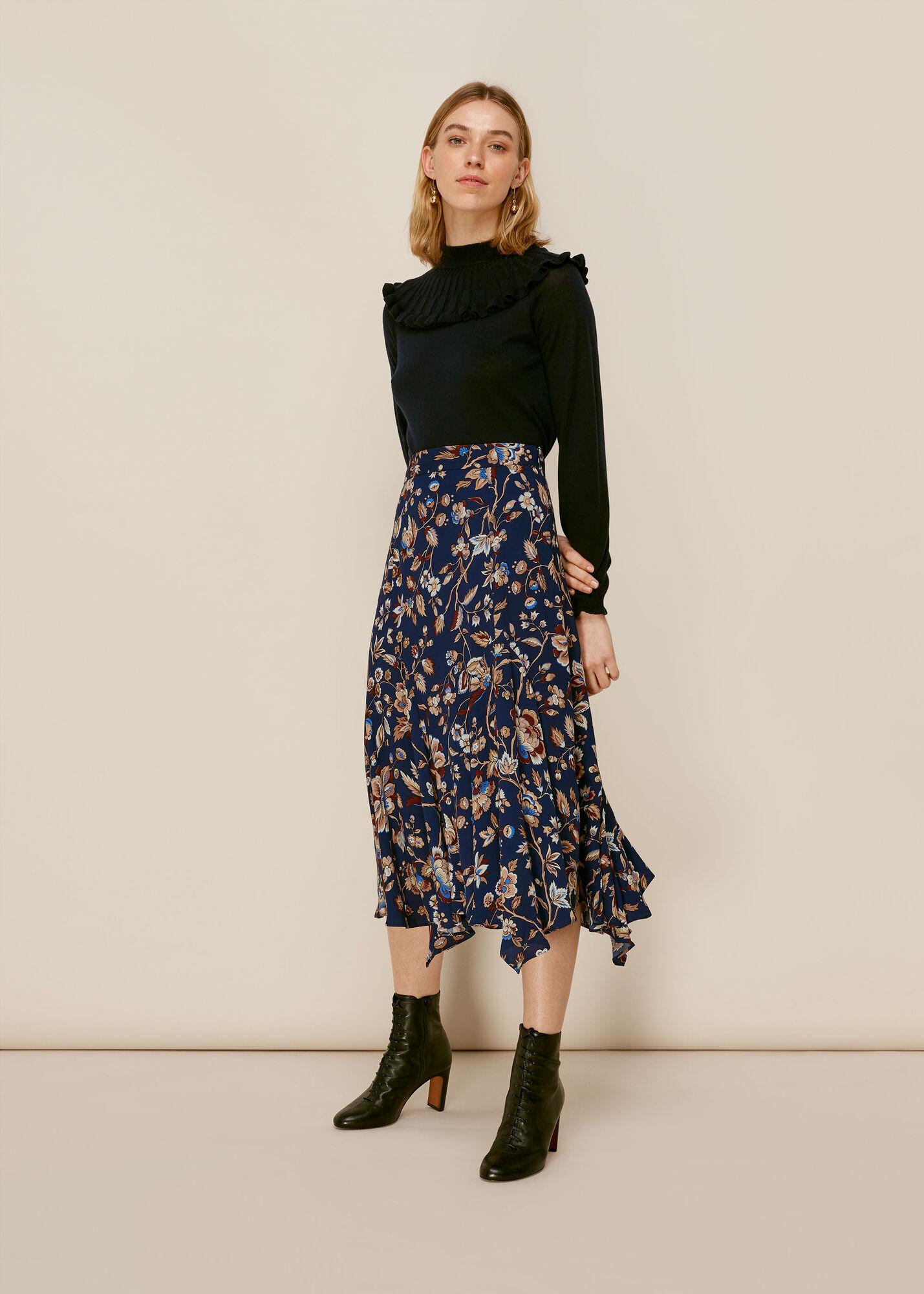 Prairie Blossom Print Skirt