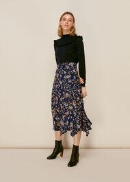 Prairie Blossom Print Skirt Blue/Multi