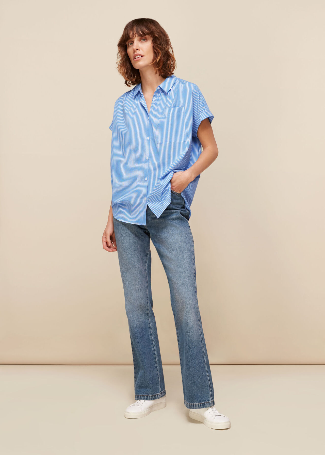 Stripe Nicola Poplin Shirt