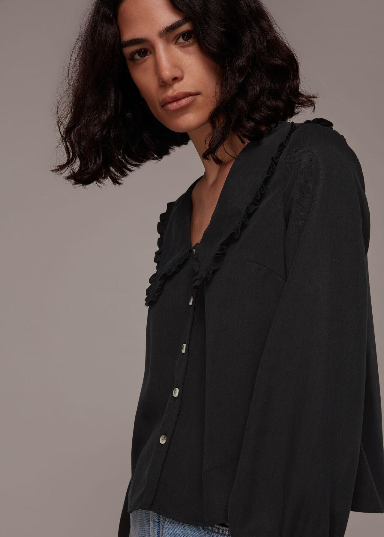 Oversized Collar Detail Top