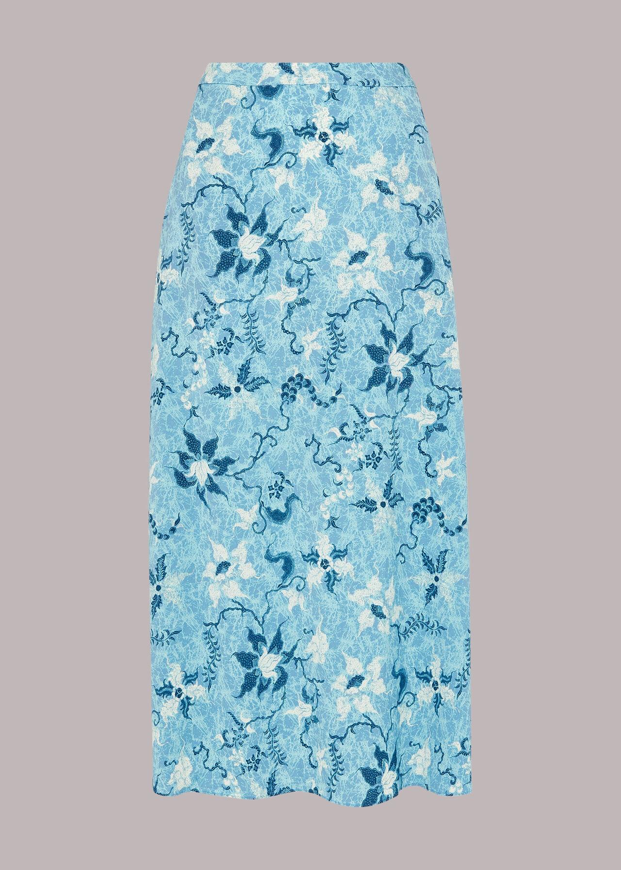 Batik Garland Print Skirt