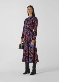 Ruby Trailing Bloom Dress Black/Multi