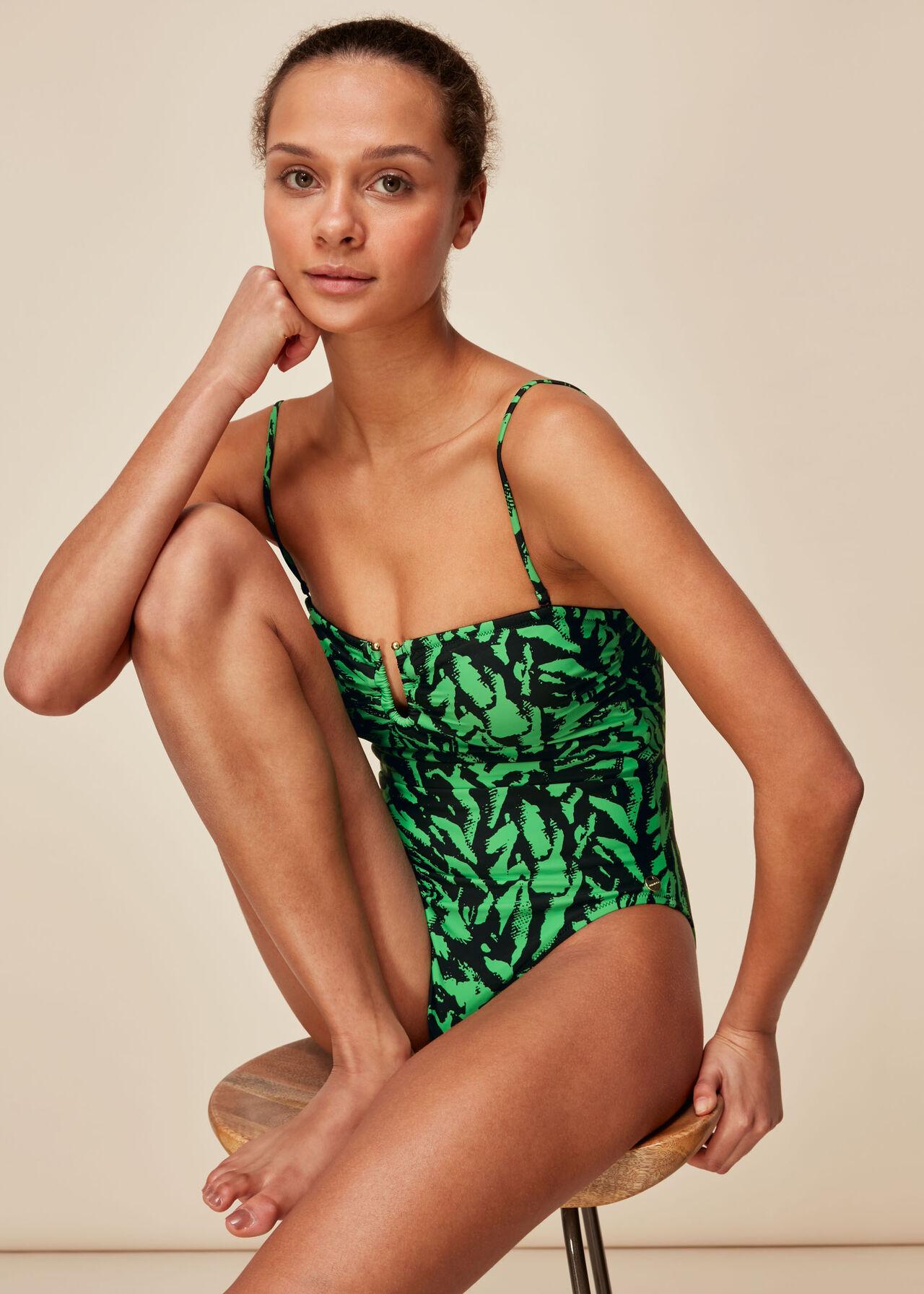 Tiger Animal Print Swimsuit