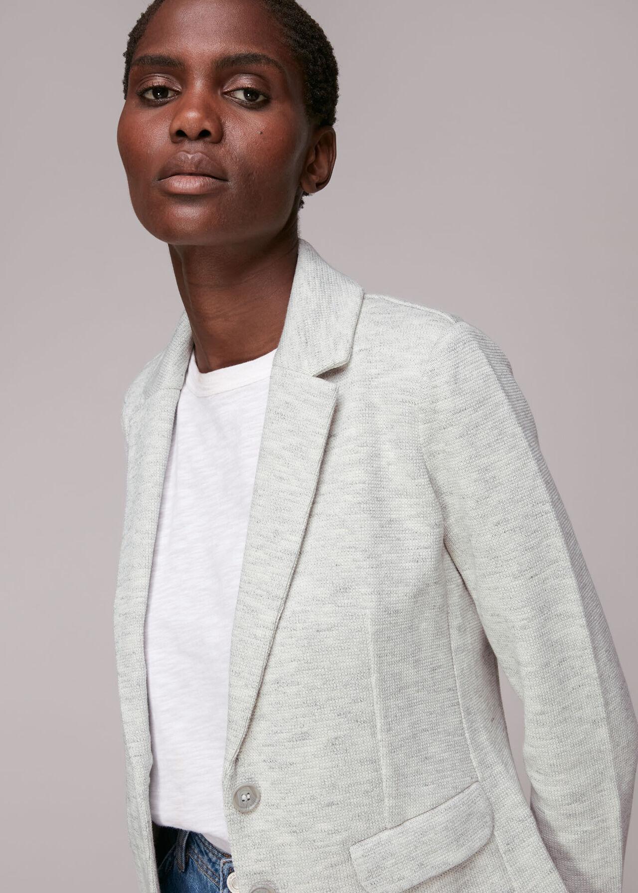 Slim Jersey Jacket Grey