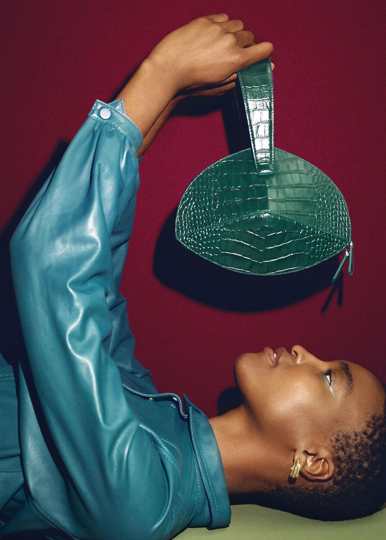 Whistles x Mlouye Bonita Bag Dark Green
