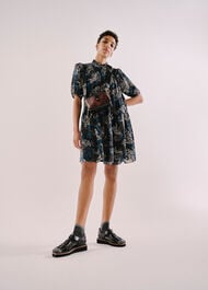 Marble Animal Print Silk Dress