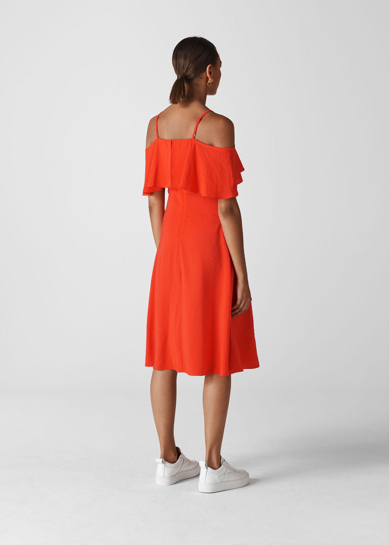 Frill Detail Dress Flame