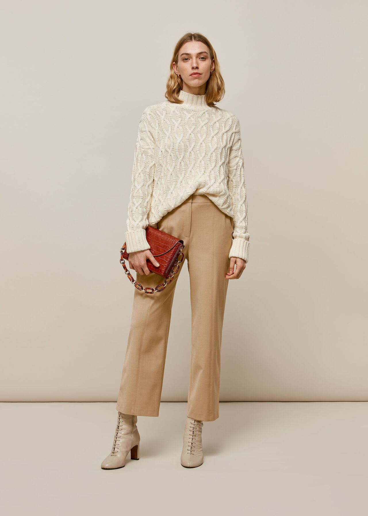 Sonia Tapered Trouser Camel