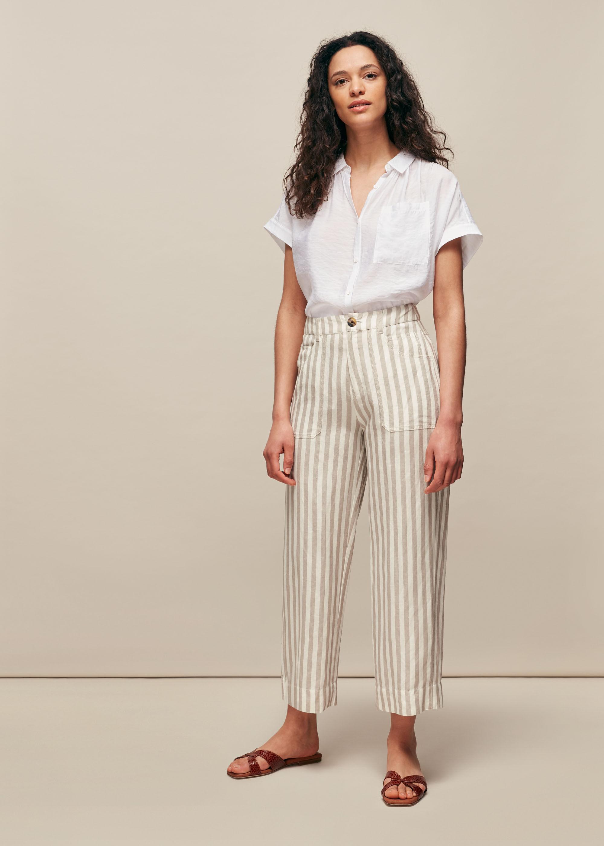 Must Crepe Crop Trouser sz 10 12 Navy Ivory Black NEW 14 16 uk pink