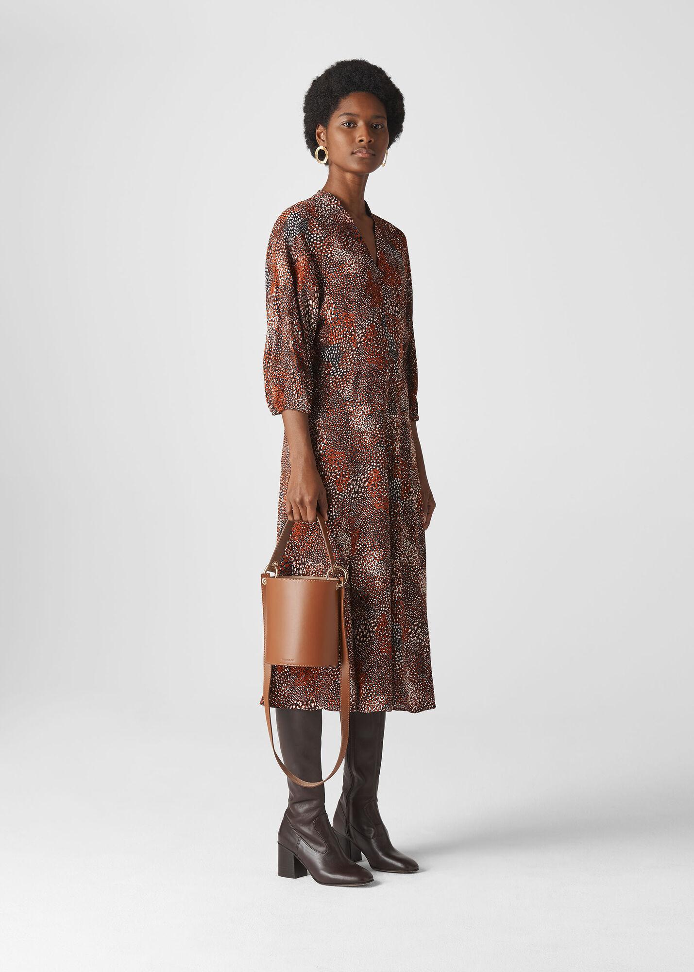 Abstract Animal Midi Dress