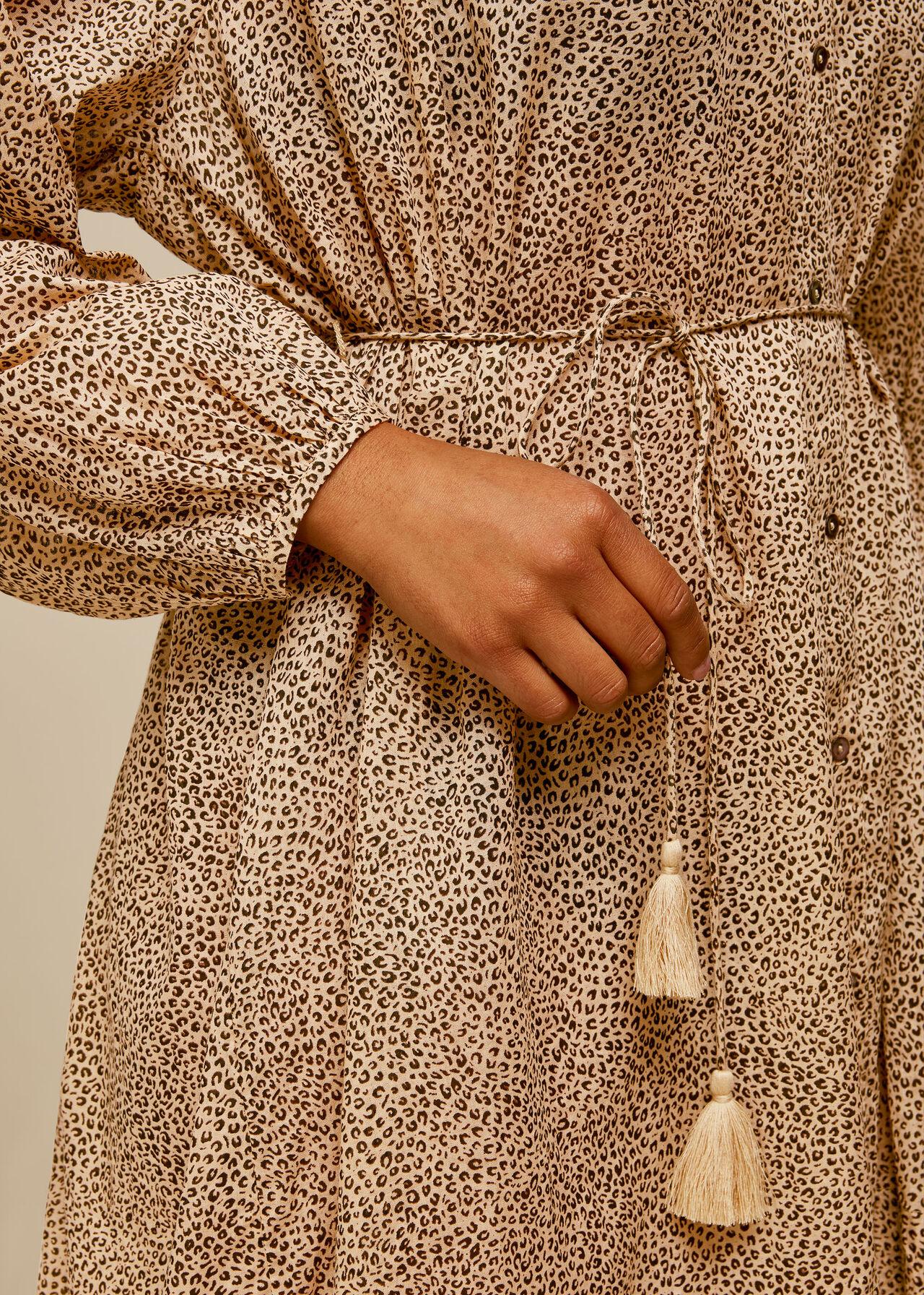 Mini Leopard Beach Dress Leopard Print