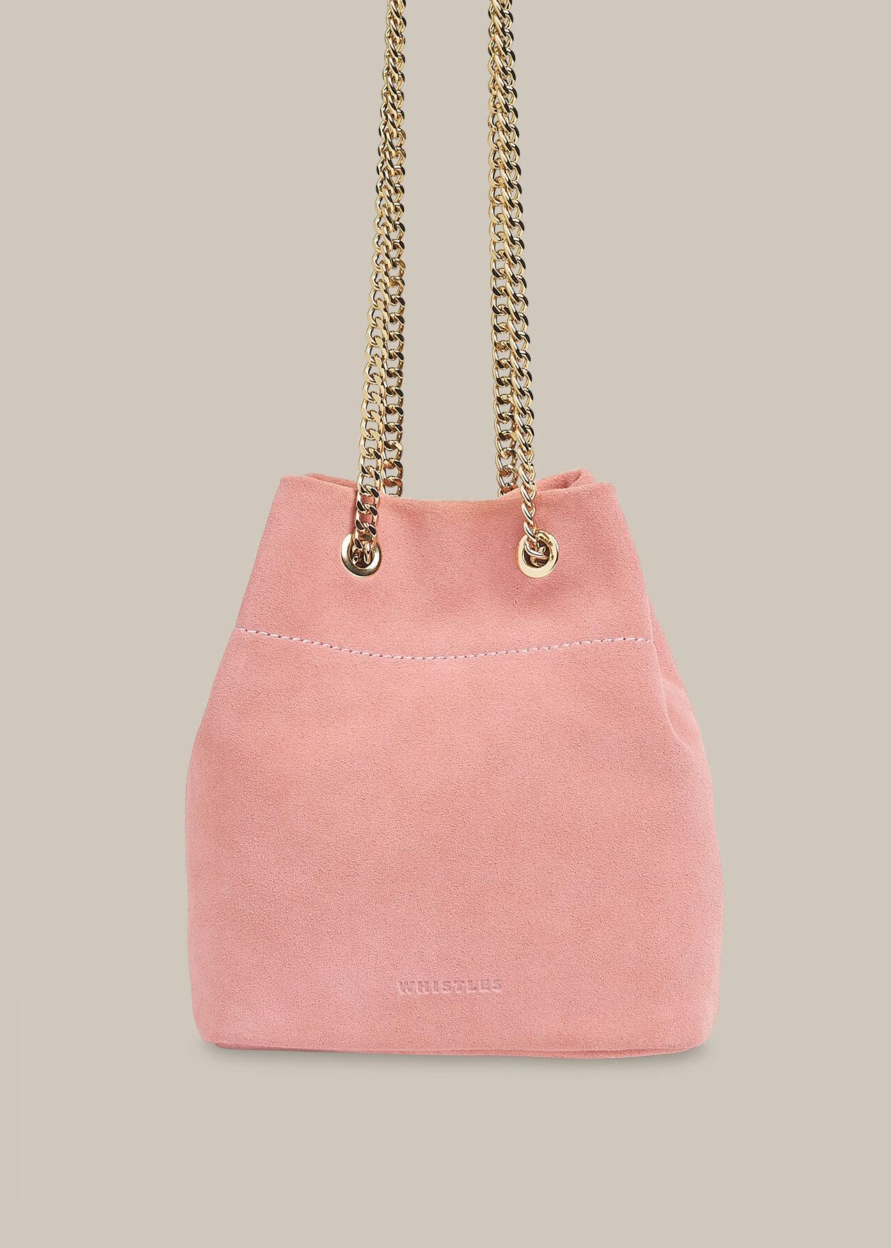 Ivy Chain Drawstring Bag Pink