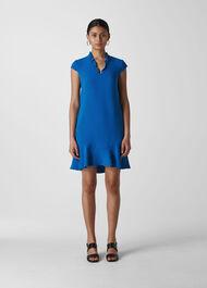 Federica Crepe  Dress Blue