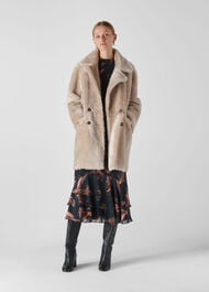 Jude Shearling Coat Grey