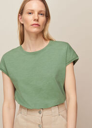 Minimal Cap Sleeve Tee Pale Green