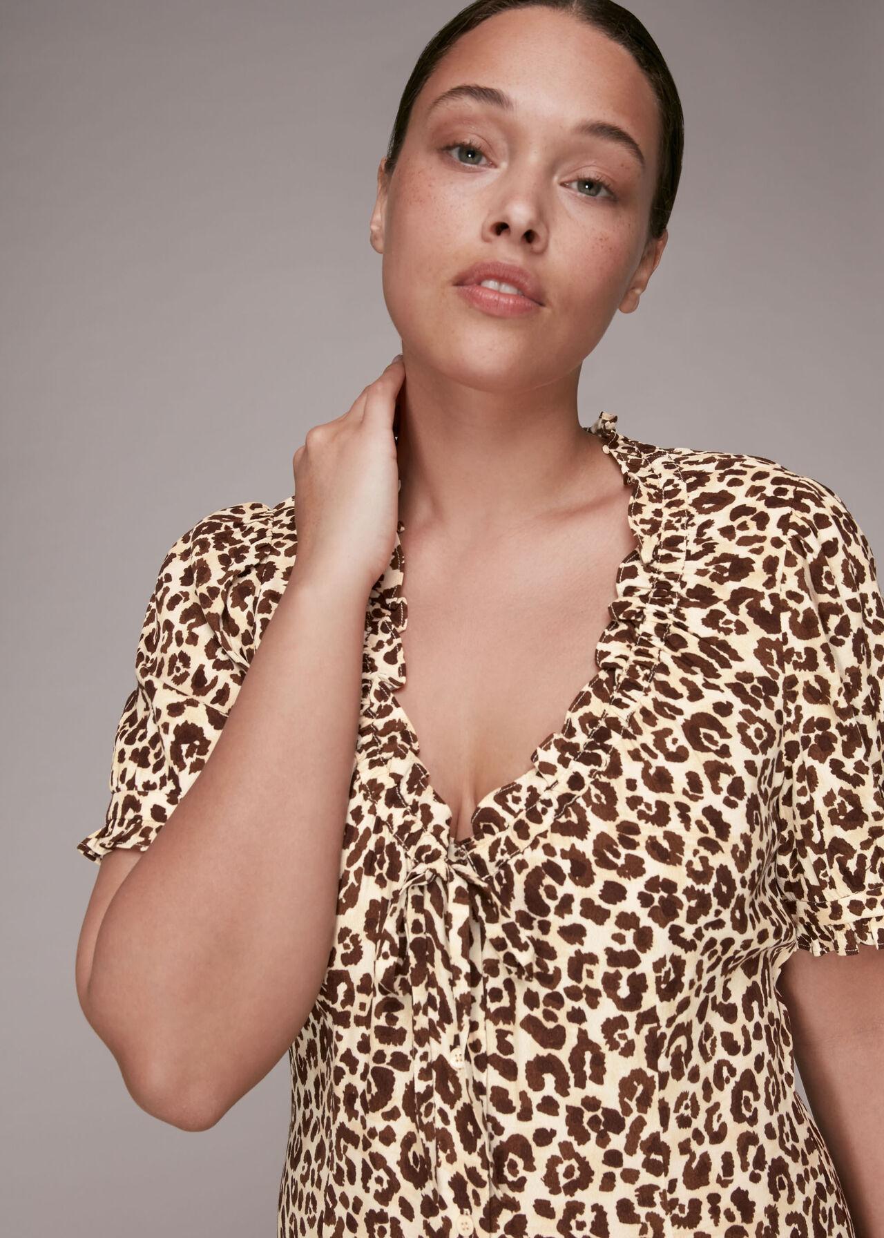 Ada Animal Print Midi Dress