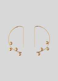 Sphere Detail Wire Earring Gold