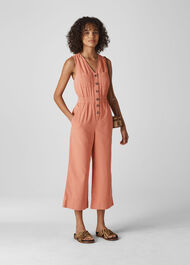 Ria Denim Jumpsuit Dusty Pink