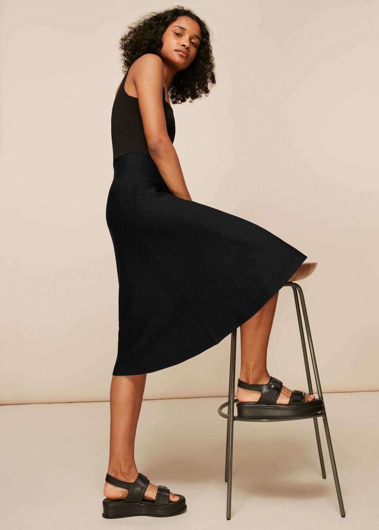 Flare Knitted Skirt