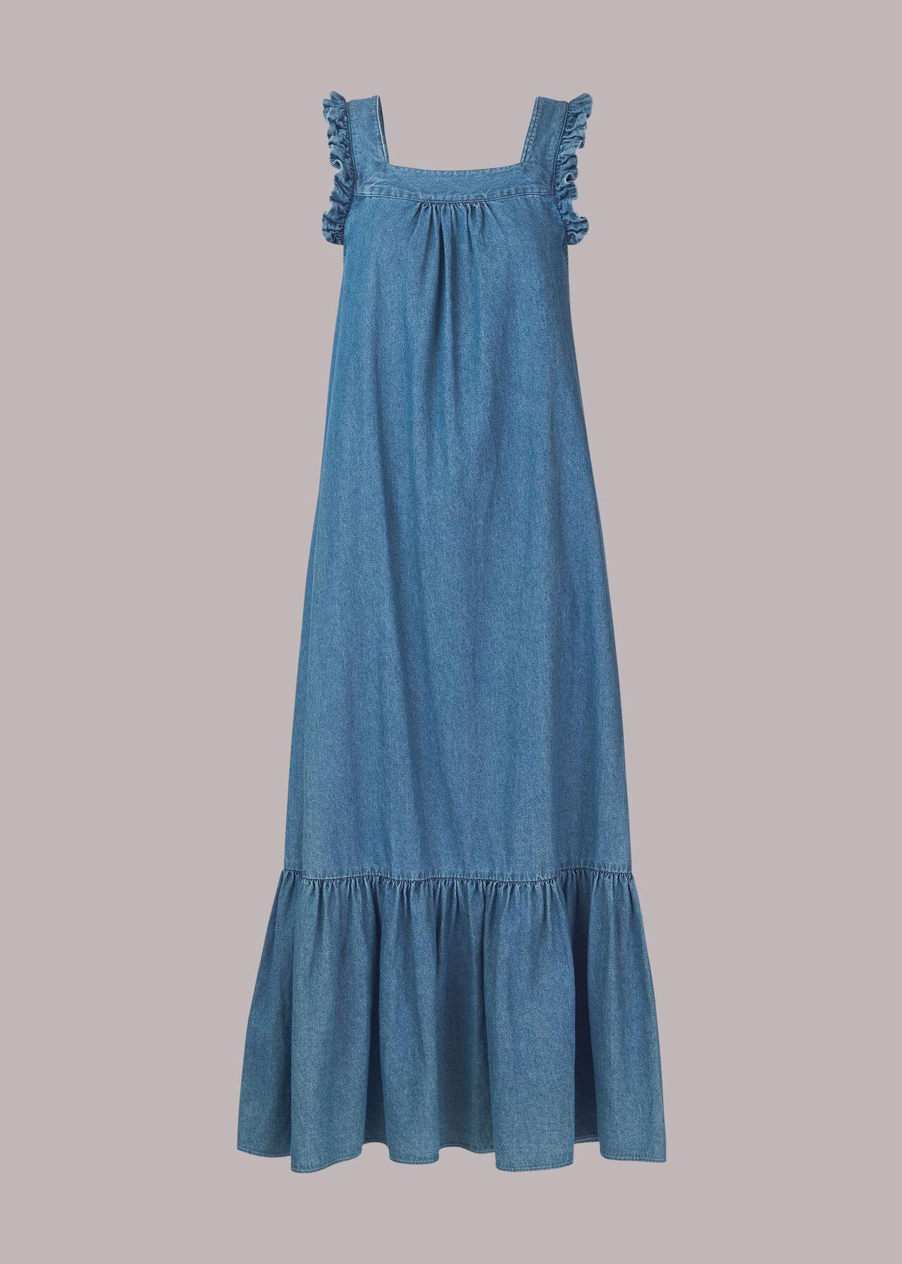 Chambray Trapeze Dress