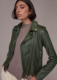 Agnes Pocket Leather Jacket