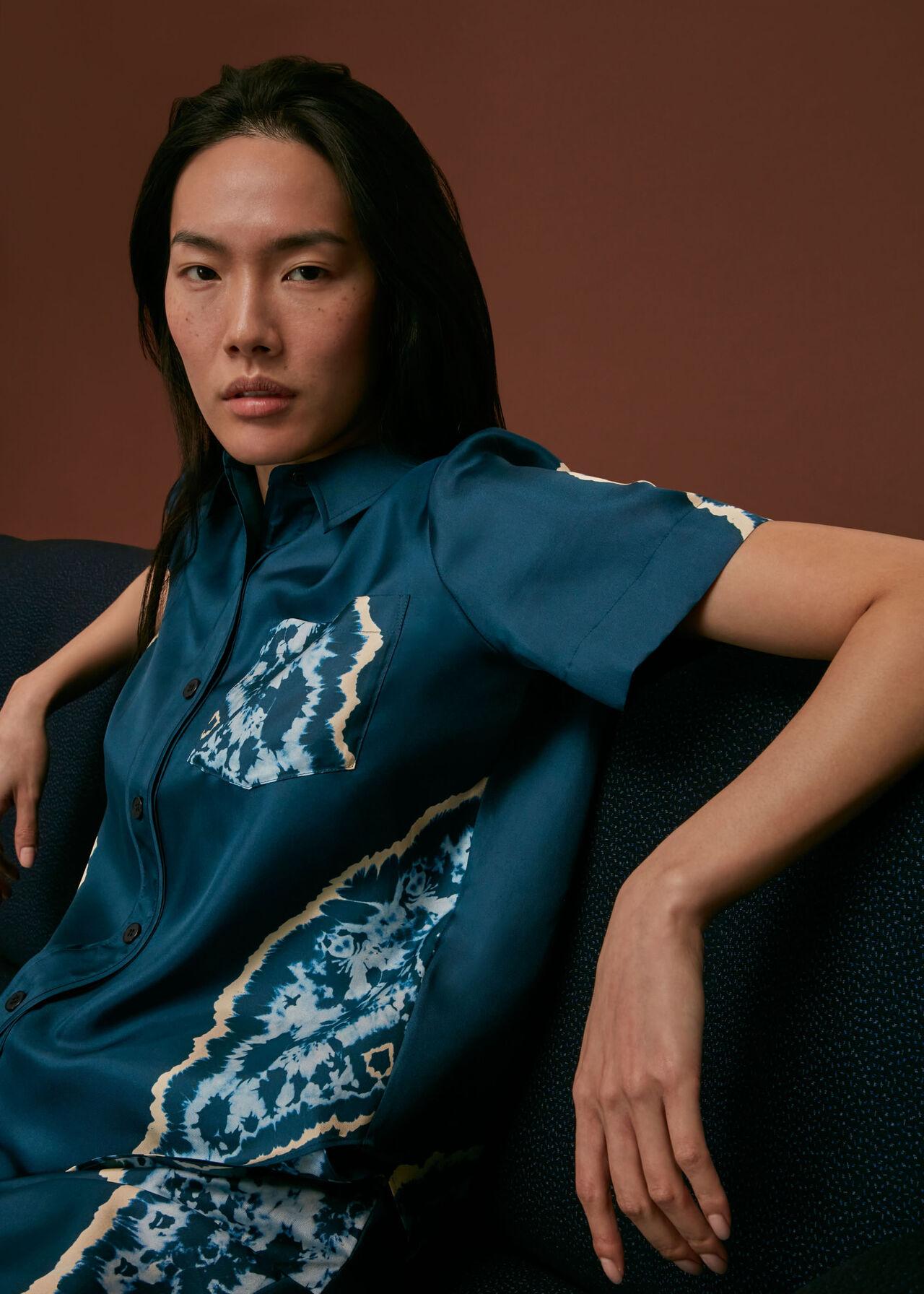 Silk Tie Dye Shirt