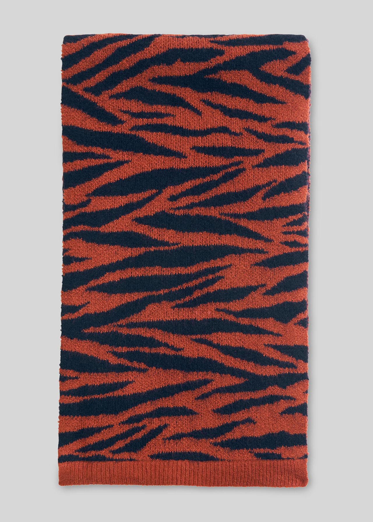 Tiger Stripe Intarsia Scarf Multicolour