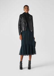 Ellis Animal Lace Skirt Dark Green