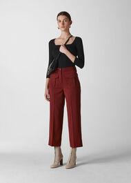 Ella Pocket Front Trouser Burgundy