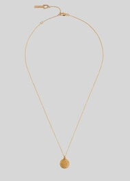 Seed Bead Disc Necklace Gold/Multi