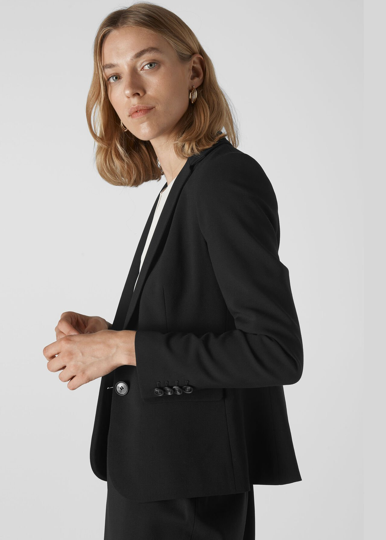 Anna Tailored Jacket Black