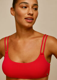 Double Strap Bikini Top Red