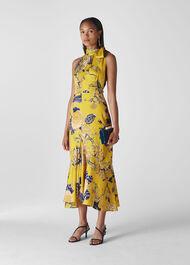 Peria Exotic Floral Dress Yellow/Multi